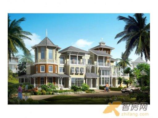 鲁能三亚湾新城游艇2区 联排T2透视 鲁能三亚湾新城建筑规划图片