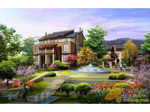 城世家青城世家中庭水景效果图 四川青城世家景观园林图片