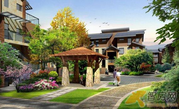 城世家青城世家中庭效果图 四川青城世家景观园林图片