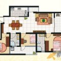 兆顺第一城兆顺第一城A3户型3室2厅2卫1 三居  户型图