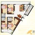 兆顺第一城兆顺第一城D3户型4室2厅3卫1 四居  户型图