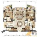 万通台北2011万通台北2011C2-7户型图3室2 三居  户型图