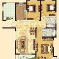 齐河德百玫瑰园齐河德百玫瑰园E户型3室2厅2 三居  户型图