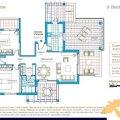 Las Colinas-Apartamento 三居  户型图