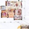 冠泰水晶城2、3、5、11、12#楼E1户型2室 两居  户型图