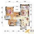冠泰水晶城6#楼F1户型(一层至十层)3室 三居  户型图