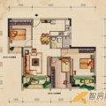 桂林奥林匹克花园左岸巴黎21H户型3室2厅1卫1厨 三居  户型图