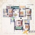 桂林奥林匹克花园左岸巴黎组团22-BC户型-157 一居  户型图