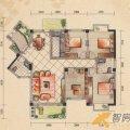 桂林奥林匹克花园10-13-15-I户型4室2厅2卫1厨- 四居  户型图