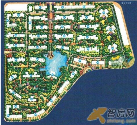 华展华园 景观园林 规划总图