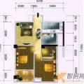 伟华22世纪一期92平3室1厅1卫1厨  三居 92㎡ 户型图