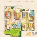 黔灵文峰苑2单元2号户型4室2厅2卫1厨  四居 132㎡ 户型图
