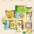 黔灵文峰苑1单元4号房户型3室2厅2卫1厨  三居 126㎡ 户型图