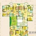 黔灵文峰苑5单元1、2、3号房户型3室2厅2卫1厨  三居 126㎡ 户型图