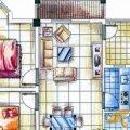 天來泉養生俱樂部二期B戶型閑庭看花2室2廳1衛  兩居 81㎡ 戶型圖