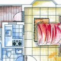 天來泉養生俱樂部二期C戶型草色入室1室1廳  一居 35㎡ 戶型圖