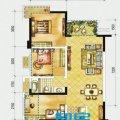 俊发时光俊园A户型3室2厅1卫1厨  三居 86㎡ 户型图