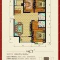 联合福邸七号院C1反 一居  户型图