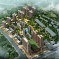 锦泰新城 建筑规划 锦泰新城整体鸟瞰图