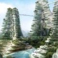 碧桂园森林城市 建筑规划 长满植物