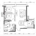 天府逸家舒适三房,给你舒适生活 三居 79㎡ 户型图