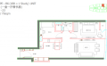马来西亚吉隆坡伊顿公寓伊顿户型B6  79㎡ 户型图