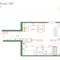 马来西亚吉隆坡伊顿公寓伊顿户型B5 一居 79㎡ 户型图