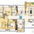 雅居乐万科热橙880x576 (17) 一居  户型图