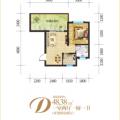 林海云天一室两厅一厨一卫2 一居  户型图