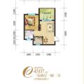林海云天一室两厅一厨一卫1 一居  户型图