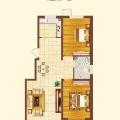 保运锦苑D户型两室两厅 两居 95.7/93.12㎡ 户型图