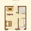 保运锦苑C户型一室一厅 一居 47.35㎡㎡ 户型图