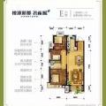 涿州桃源新都孔雀城 三居  户型图