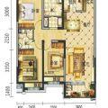 碧桂园学府壹号115平米三室二厅二卫,南北通透户型,地铁沿线学区房 三居 115㎡ 户型图