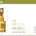 涿州孔雀城桃园新都 三居  户型图