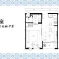 卡伦贵族海景公寓一室一厅 一居 32㎡ 户型图