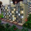 固安 安语国际公寓 建筑规划 观成兰苑沙盘效果图