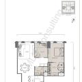 The W Residence丽阳豪庭二居室 两居 93.5㎡ 户型图