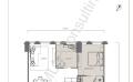 The W Residence丽阳豪庭二居室  93.5㎡ 户型图