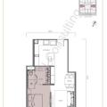 The W Residence丽阳豪庭一居室 一居  户型图