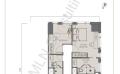 The W Residence丽阳豪庭二居室  103.5㎡ 户型图