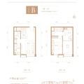 恒大文化旅游城LOFT公寓 两居 52平㎡ 户型图