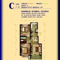 京南高铁新城C 两居 80赠3平米㎡ 户型图