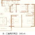 恒大文化旅游城奢居洋房 三居 149㎡ 户型图