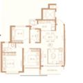 恒大文化旅游城奢居洋房 两居 101㎡ 户型图