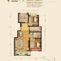 固安孔雀城英国宫 三居  户型图