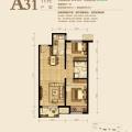 固安孔雀城英国宫81平米 两居 81㎡ 户型图
