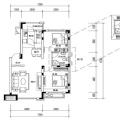 自贸柏林城B户型2室2厅1卫1厨 84.37 两居 84.37㎡ 户型图