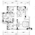 自贸柏林城C户型 3室2厅1卫1厨 三居 100.84㎡ 户型图