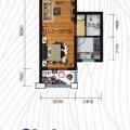 龙口海城广场龙口海景房龙族海城广场特价房 一居 58㎡ 户型图